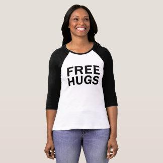 Abrazos libres 3/4 camiseta del raglán - mujeres remera