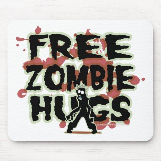 Abrazos libres del zombi alfombrilla de ratón