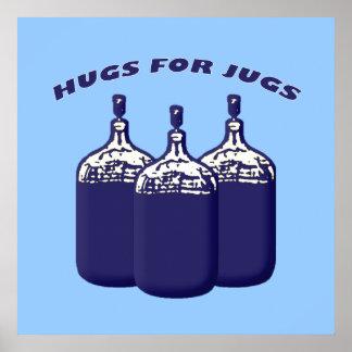 Abrazos para los jarros impresiones