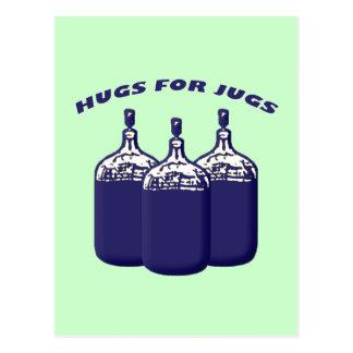 Abrazos para los jarros tarjeta postal