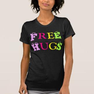 Abrazos T-Camisa-Libres/artisticletters coloridos, Playera
