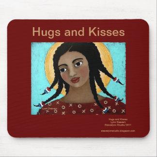 Abrazos y besos alfombrillas de ratón