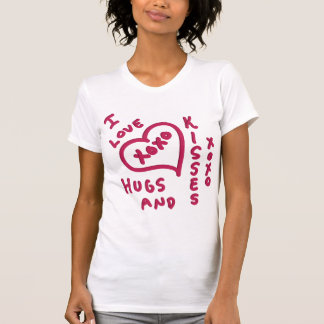 Abrazos y besos del el día de San Valentín Camisetas