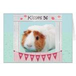 Abrazos y besos guarros tarjeta de felicitación