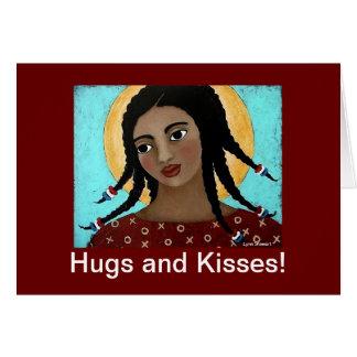 ¡Abrazos y besos! Tarjeta De Felicitación