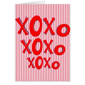 Abrazos y besos tarjeta de felicitación