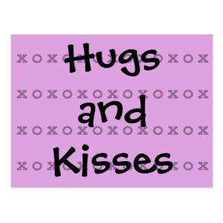 Abrazos y besos tarjetas postales