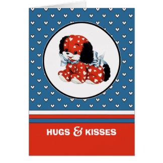 Abrazos y besos. Tarjetas de encargo del el día de