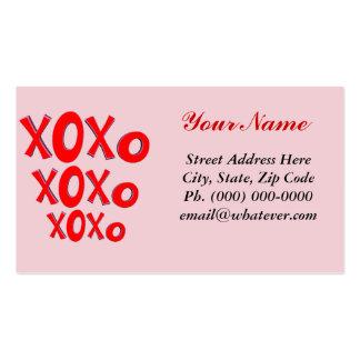 Abrazos y besos tarjetas de visita