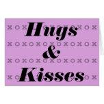 Abrazos y besos tarjeton
