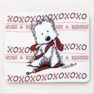 Abrazos y besos Westie Mousepad Tapetes De Raton