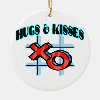 Abrazos y besos XO Adorno Navideño Redondo De Cerámica