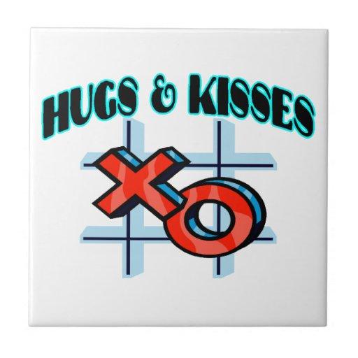 Abrazos y besos XO Azulejo Cuadrado Pequeño