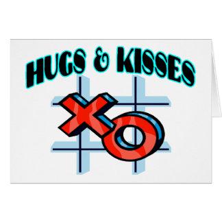 Abrazos y besos XO Tarjeta De Felicitación