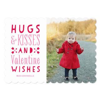 Abrazos y tarjeta de la foto del el día de San Invitación 12,7 X 17,8 Cm