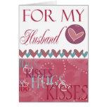 Abrazos y tarjeta del día de San Valentín de los b