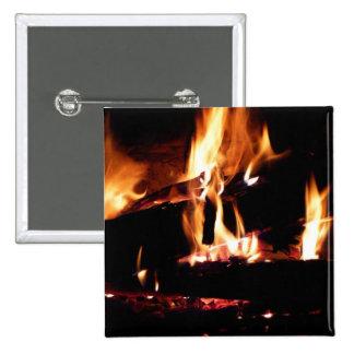 Abre una sesión la fotografía caliente del fuego pin cuadrado