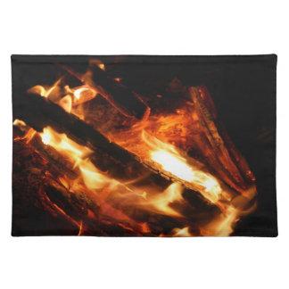 abre una sesión la fotografía de las llamas mantel