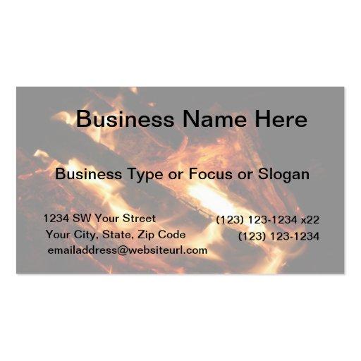 abre una sesión la fotografía de las llamas tarjetas de negocios