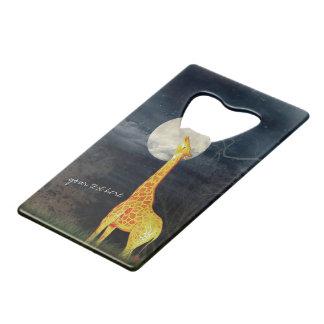 Abrebotellas de encargo de la jirafa y de la luna