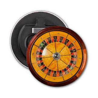 Abrebotellas de madera clásico de la rueda de abrebotellas redondo