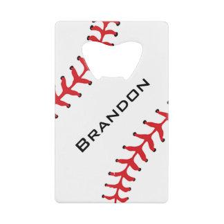 Abrebotellas del diseño del béisbol