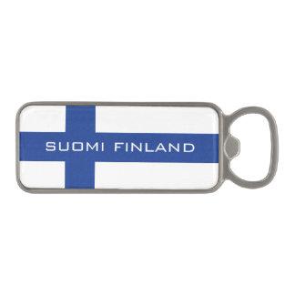 Abrebotellas del personalizado de SUOMI FINLANDIA Abrebotellas Magnético