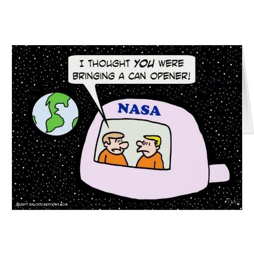 abrelatas de los astronautas del espacio de la NAS Tarjeta
