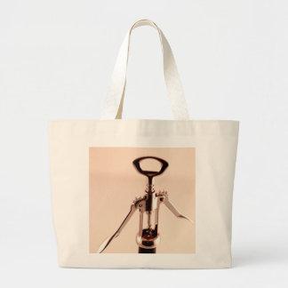 Abrelatas del vino bolsa lienzo