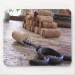 Abrelatas del vino tapete de ratón