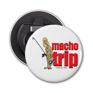 Abrelatas magnético del logotipo machista abrebotellas redondo