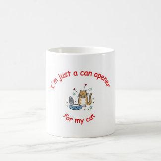 Abrelatas para mi taza del gato
