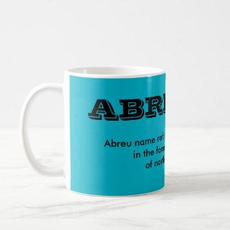Abreu* Portuguese Surname Cup Classic White Coffee Mug