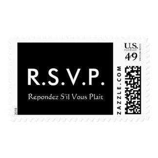 Abreviatura de RSVP Estampillas