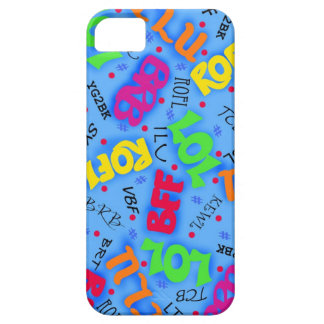 Abreviatura electrónica colorida azul del arte de iPhone 5 Case-Mate coberturas
