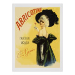 Abricotine (Restored vintage french Liquor Ads) Posters