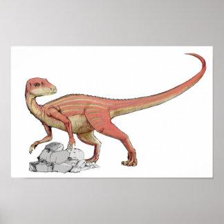 Abrictosaurus - cartera jurásica del dinosaurio póster