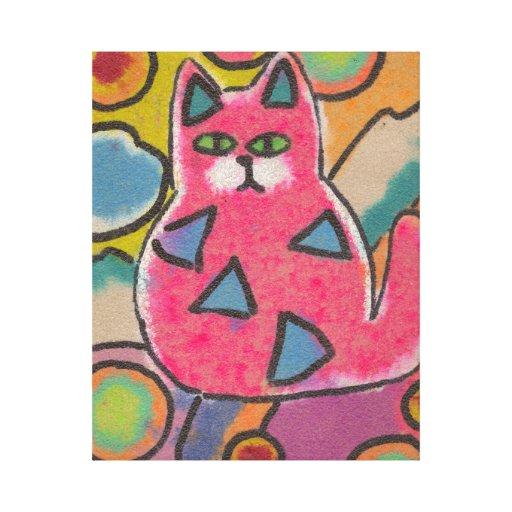 Abrigo abstracto brillante de la lona del gatito impresiones en lona