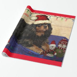 Abrigo arrogante del navidad del perro de aguas de papel de regalo