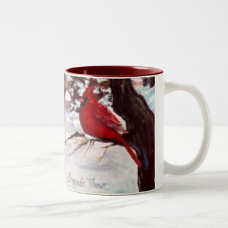 Abrigo cardinal de la serenidad de los inviernos a tazas de café