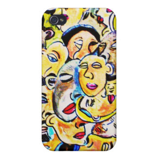 abrigo cubista del arte iPhone 4/4S funda