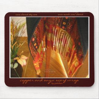Abrigo de cobre Mousepad de la bufanda del ónix