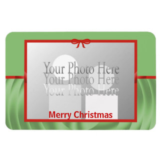 Abrigo de la cinta del navidad (marco de la foto) imanes de vinilo