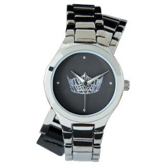 Abrigo de la corona del estilo de Srta. América Reloj