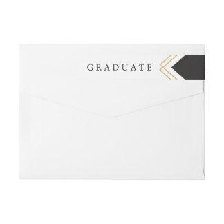 Abrigo de la graduación de Geo el | alrededor del Etiquetas Para Remite