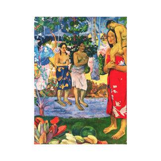 Abrigo de la lona de Gauguin Ia Orana Maria Lona Estirada Galerías