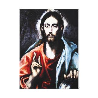 Abrigo de la lona de la bendición de El Greco Cris Lienzo Envuelto Para Galerías