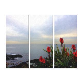 Abrigo de la lona de la vista al mar impresiones de lienzo