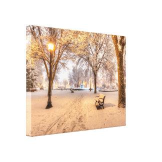 Abrigo de la lona de Winona - parque de Windom Impresión En Lona Estirada