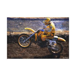 Abrigo de la lona del motocrós - guantero de Broc Impresión En Lienzo